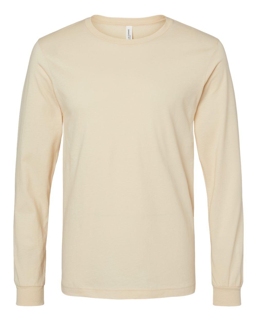 Bella-Canvas-Mens-Blank-Top-Long-Sleeve-Jersey-Tee-T-Shirt-3501-up-to-3XL thumbnail 52