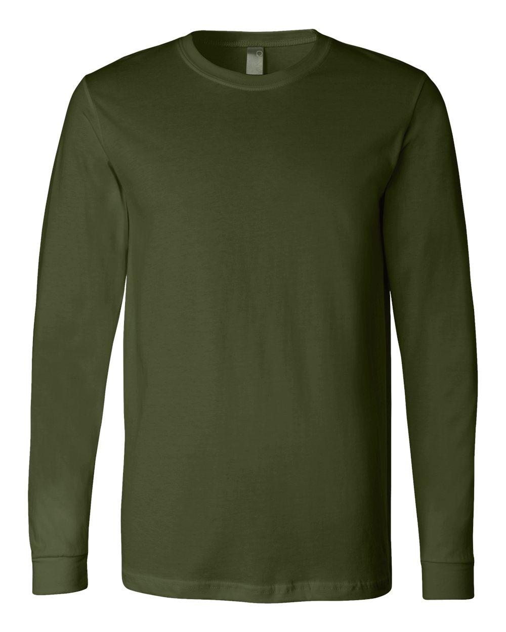 Bella-Canvas-Mens-Blank-Top-Long-Sleeve-Jersey-Tee-T-Shirt-3501-up-to-3XL thumbnail 94