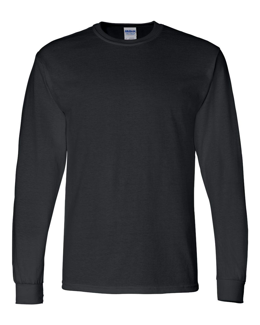 Gildan-Mens-Blank-DryBlend-50-50-Cotton-Long-Sleeve-T-Shirt-8400-up-to-3XL miniature 9