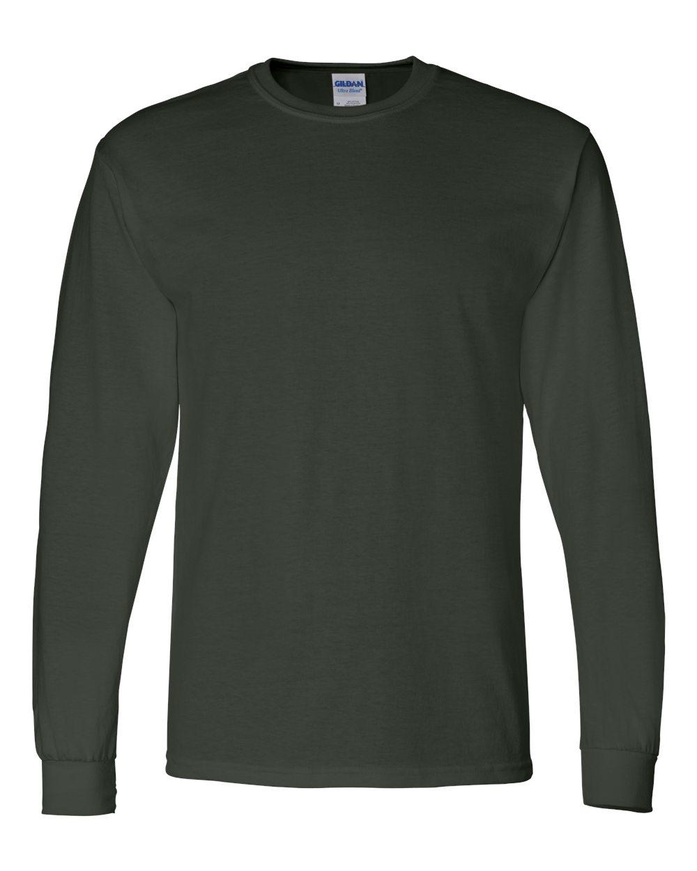 Gildan-Mens-Blank-DryBlend-50-50-Cotton-Long-Sleeve-T-Shirt-8400-up-to-3XL miniature 18