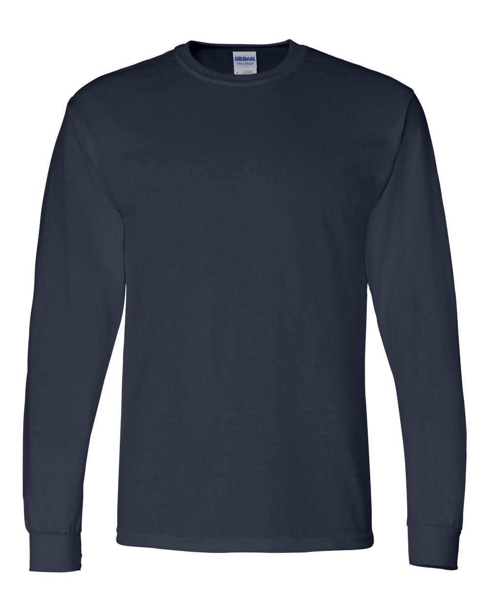 Gildan-Mens-Blank-DryBlend-50-50-Cotton-Long-Sleeve-T-Shirt-8400-up-to-3XL miniature 27
