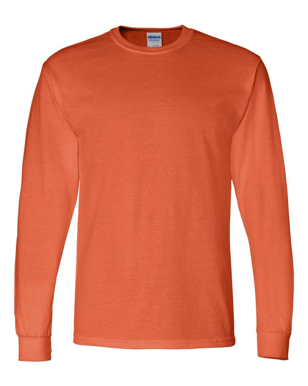 Gildan-Mens-Blank-DryBlend-50-50-Cotton-Long-Sleeve-T-Shirt-8400-up-to-3XL miniature 30