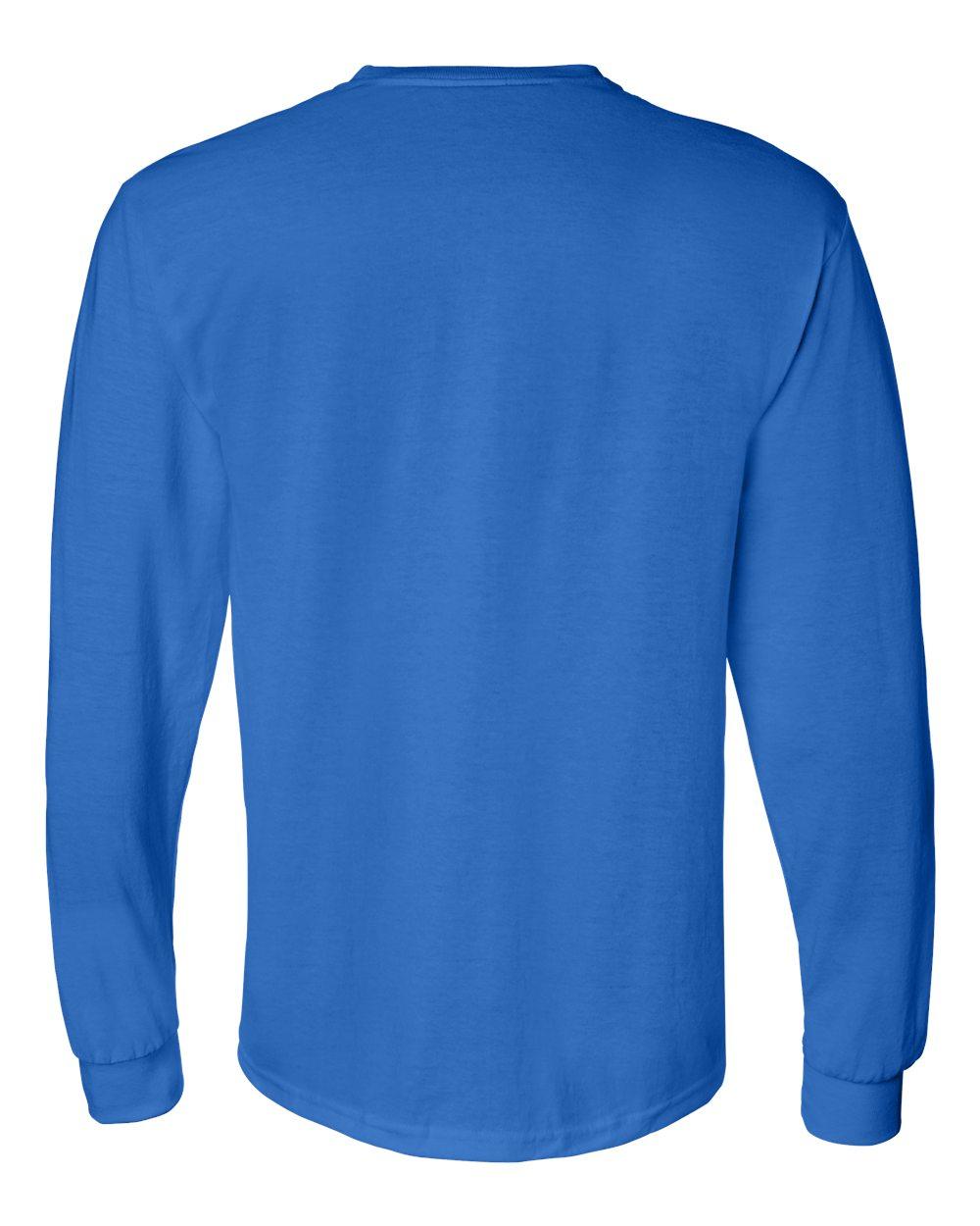 Gildan-Mens-Blank-DryBlend-50-50-Cotton-Long-Sleeve-T-Shirt-8400-up-to-3XL miniature 37