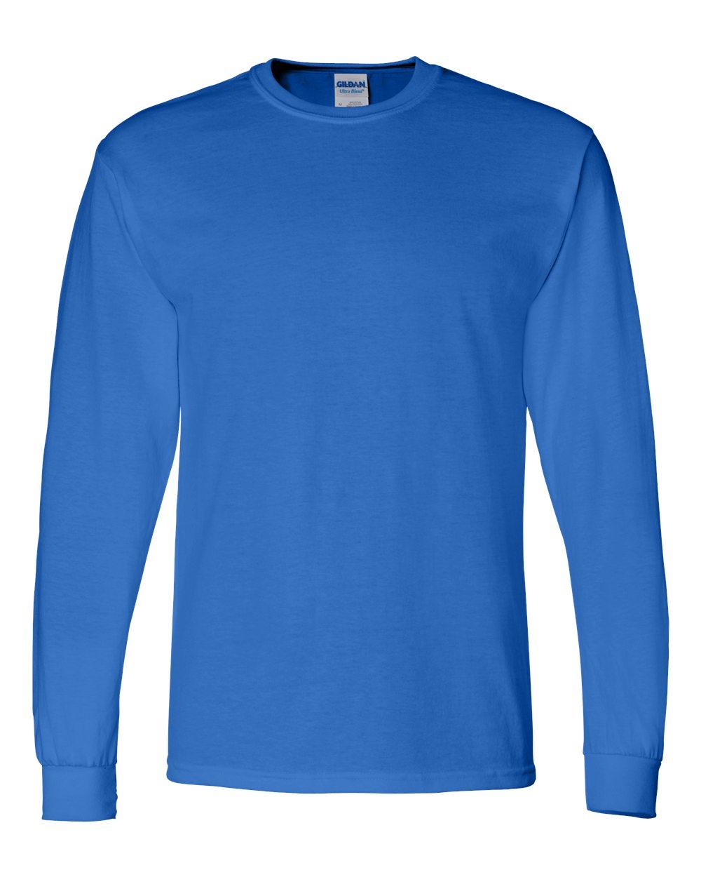 Gildan-Mens-Blank-DryBlend-50-50-Cotton-Long-Sleeve-T-Shirt-8400-up-to-3XL miniature 36