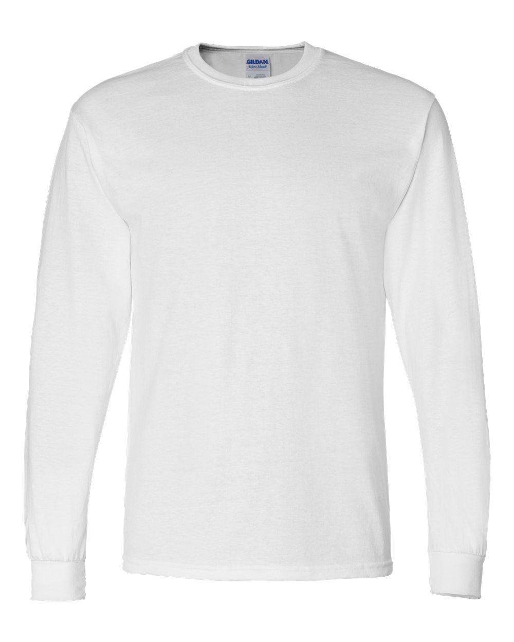 Gildan-Mens-Blank-DryBlend-50-50-Cotton-Long-Sleeve-T-Shirt-8400-up-to-3XL miniature 48