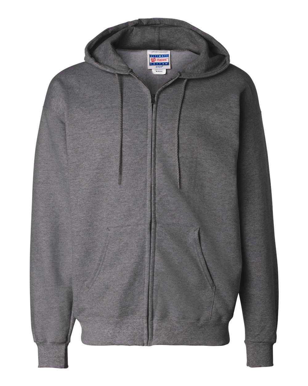 Hanes-Mens-Blank-Ultimate-Cotton-Full-Zip-Hooded-Sweatshirt-F280-up-to-3XL miniature 9