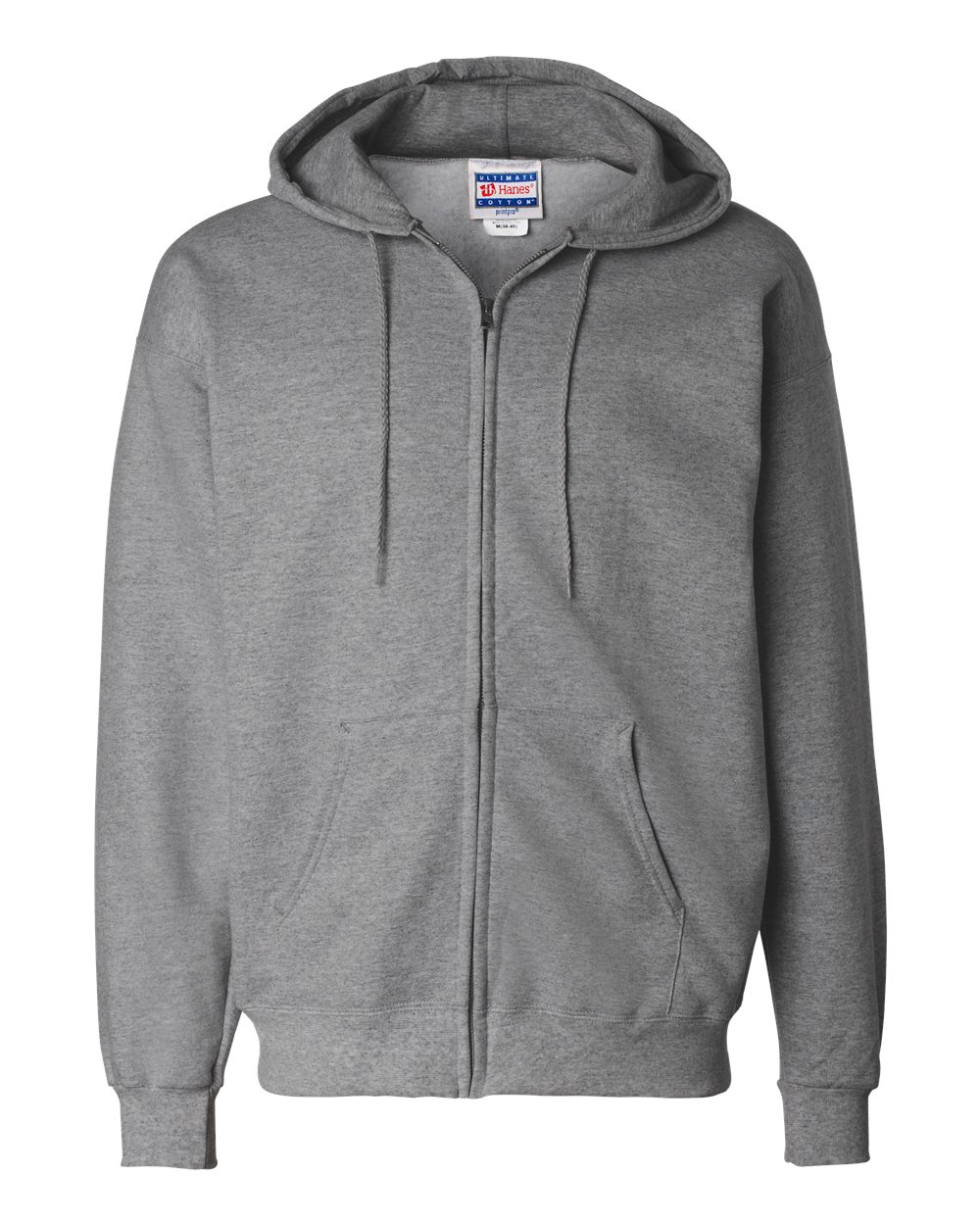Hanes-Mens-Blank-Ultimate-Cotton-Full-Zip-Hooded-Sweatshirt-F280-up-to-3XL miniature 18