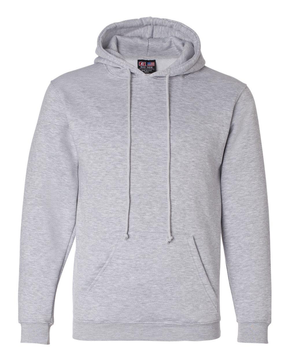 Bayside-Mens-Blank-USA-Made-Hooded-Sweatshirt-960-up-to-6XL miniature 15
