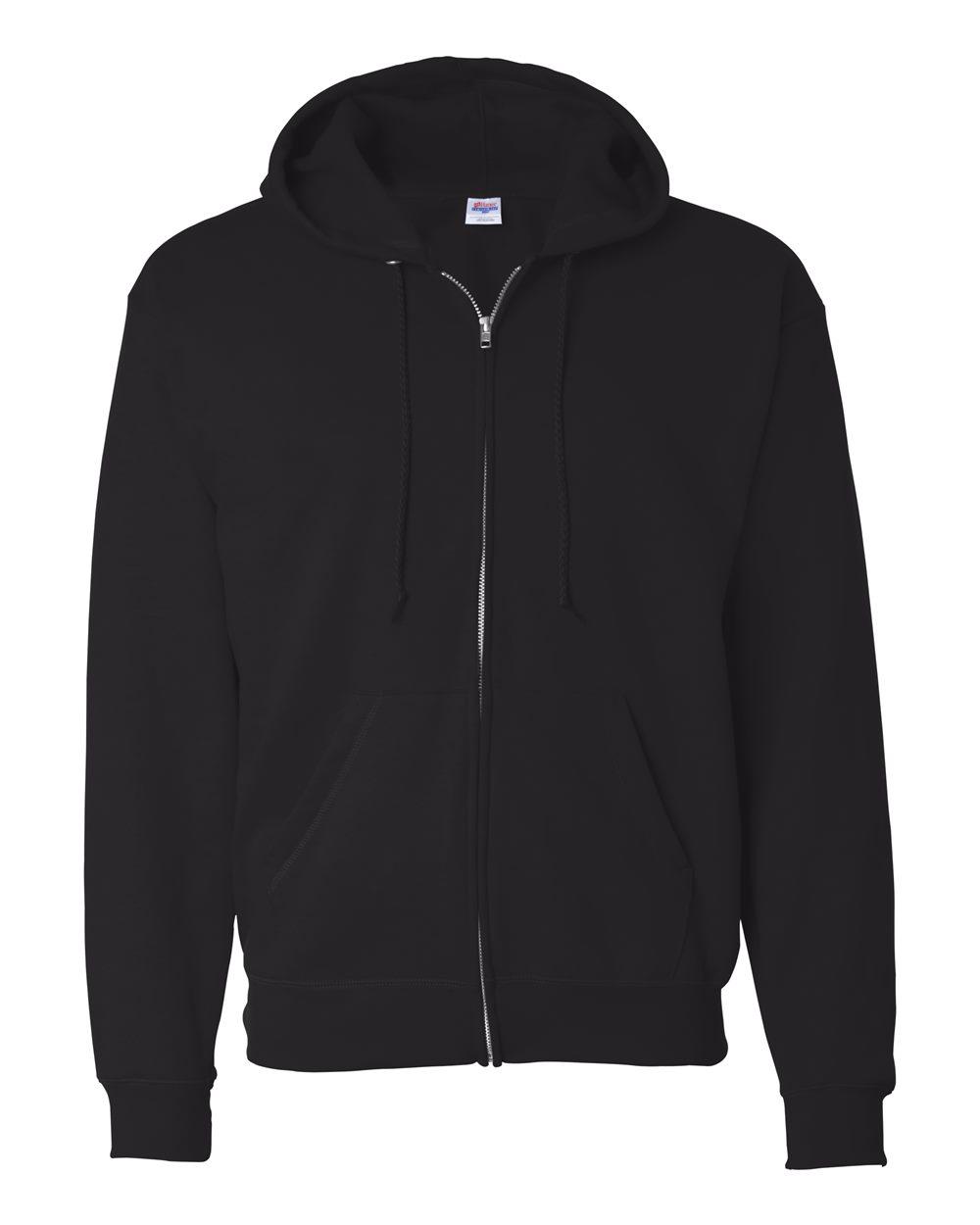Hanes-Mens-Ecosmart-Blend-Full-Zip-Hooded-Sweatshirt-P180-up-to-3XL miniature 6