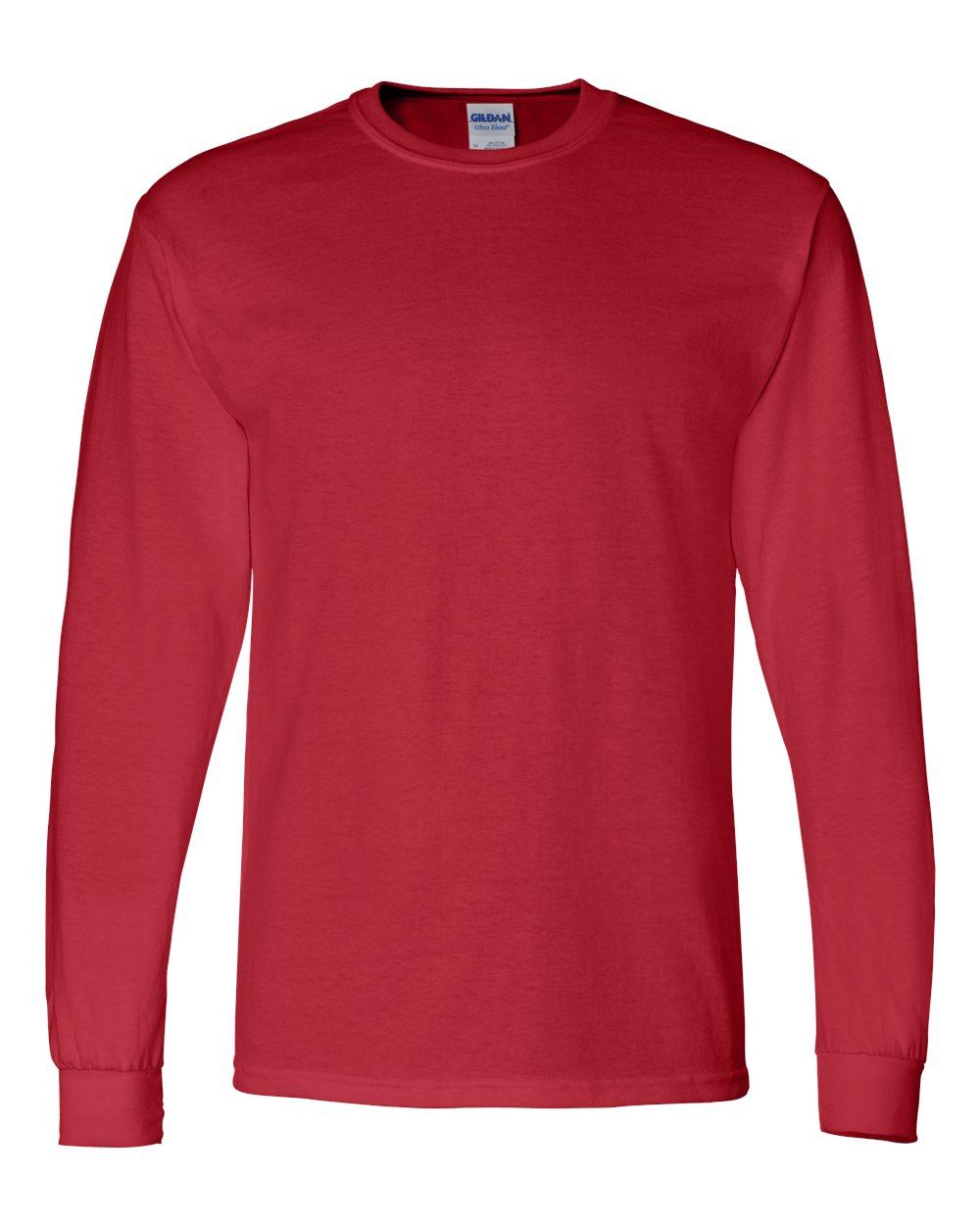Gildan-Mens-Blank-DryBlend-50-50-Cotton-Long-Sleeve-T-Shirt-8400-up-to-3XL miniature 33