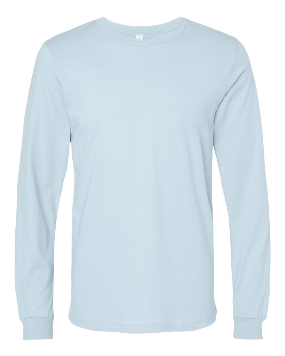 Bella-Canvas-Mens-Blank-Top-Long-Sleeve-Jersey-Tee-T-Shirt-3501-up-to-3XL thumbnail 15