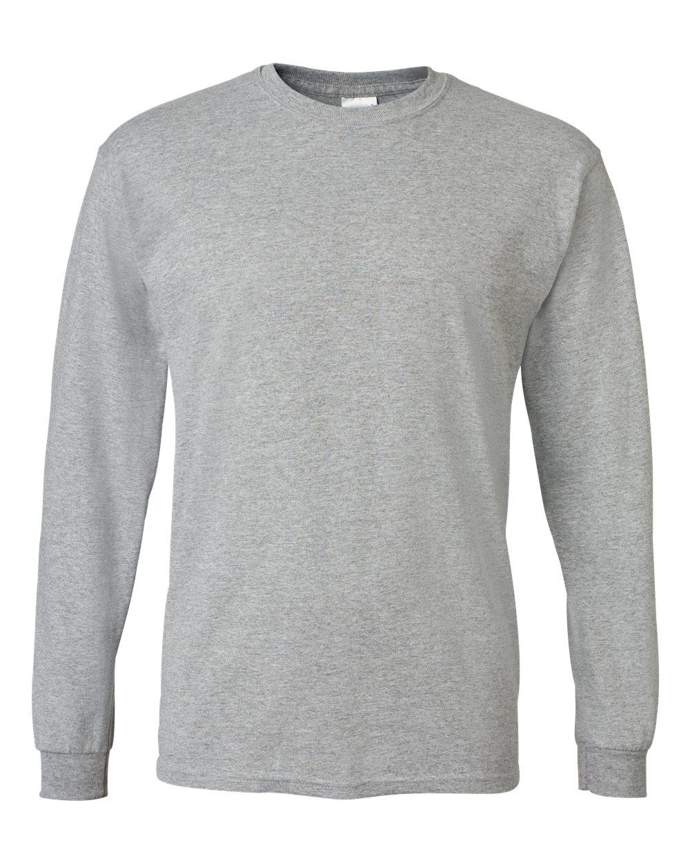 Gildan-Mens-Blank-DryBlend-50-50-Cotton-Long-Sleeve-T-Shirt-8400-up-to-3XL miniature 45