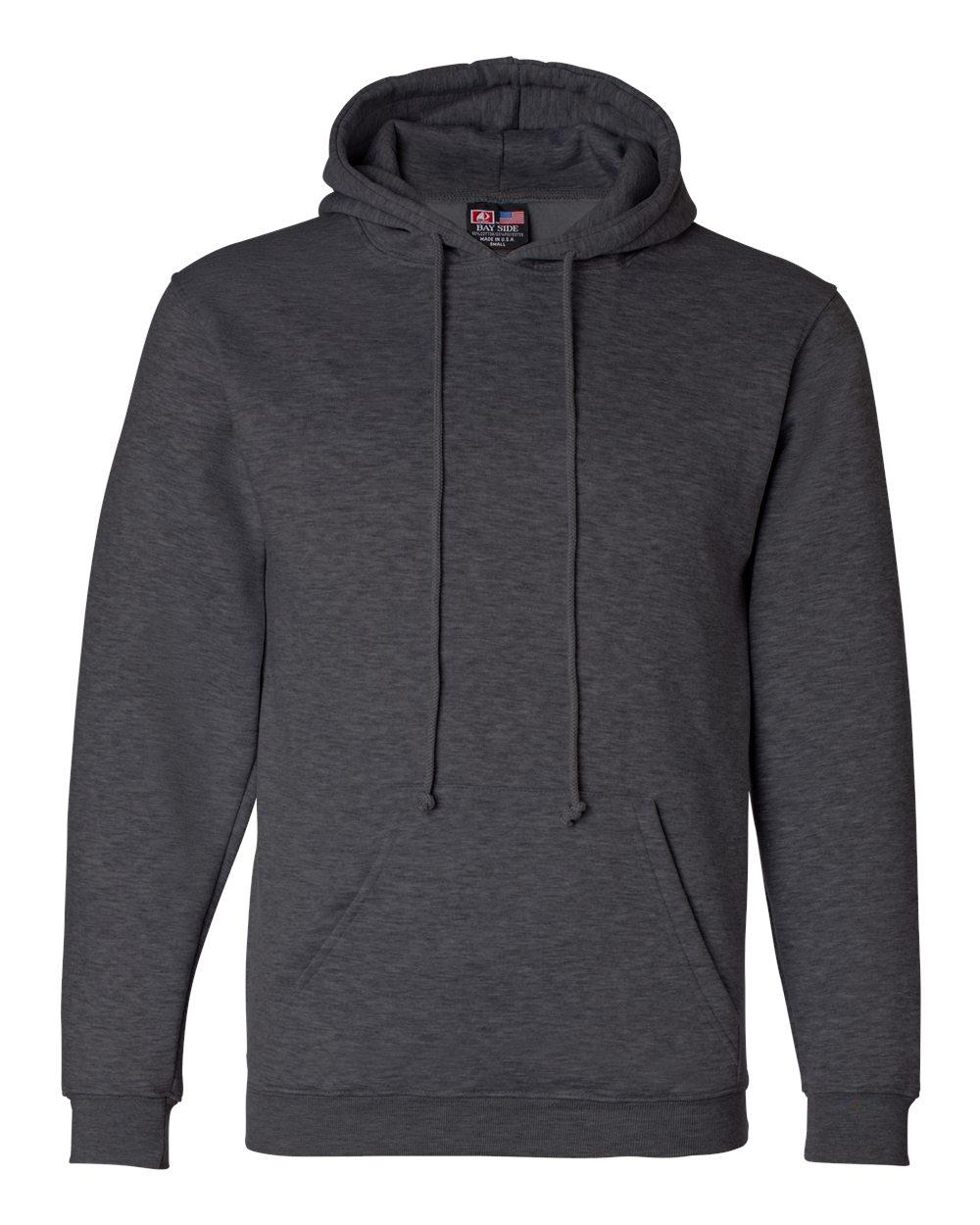 Bayside-Mens-Blank-USA-Made-Hooded-Sweatshirt-960-up-to-6XL miniature 12