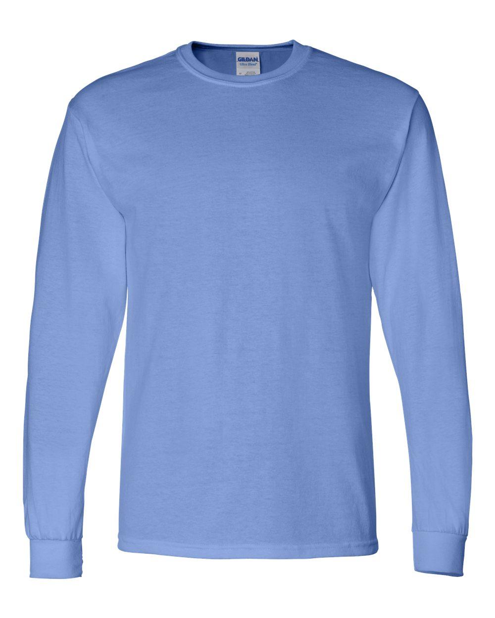Gildan-Mens-Blank-DryBlend-50-50-Cotton-Long-Sleeve-T-Shirt-8400-up-to-3XL miniature 12