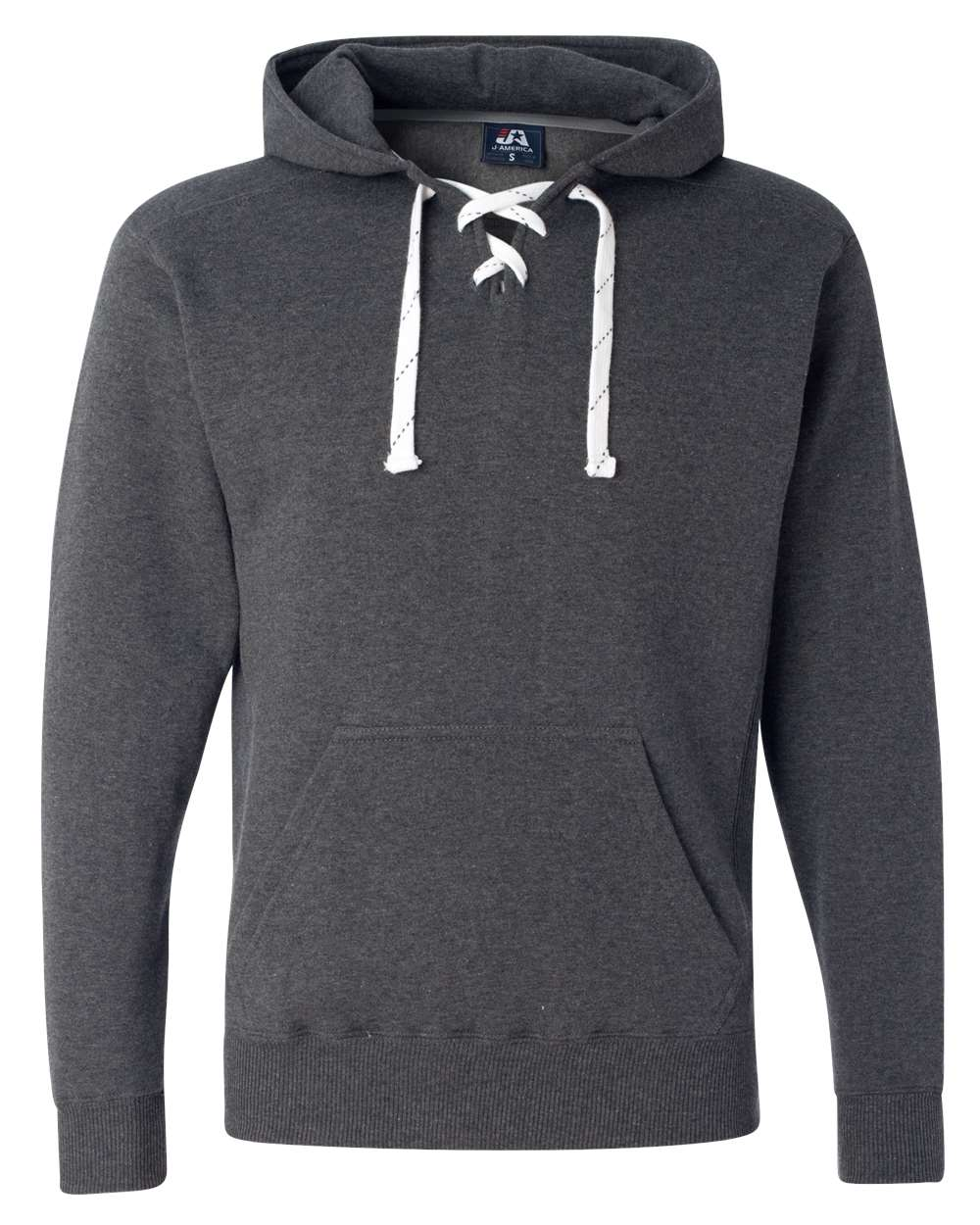 J-America-Mens-Blank-Sport-Lace-Hooded-Sweatshirt-8830-up-to-3XL thumbnail 9