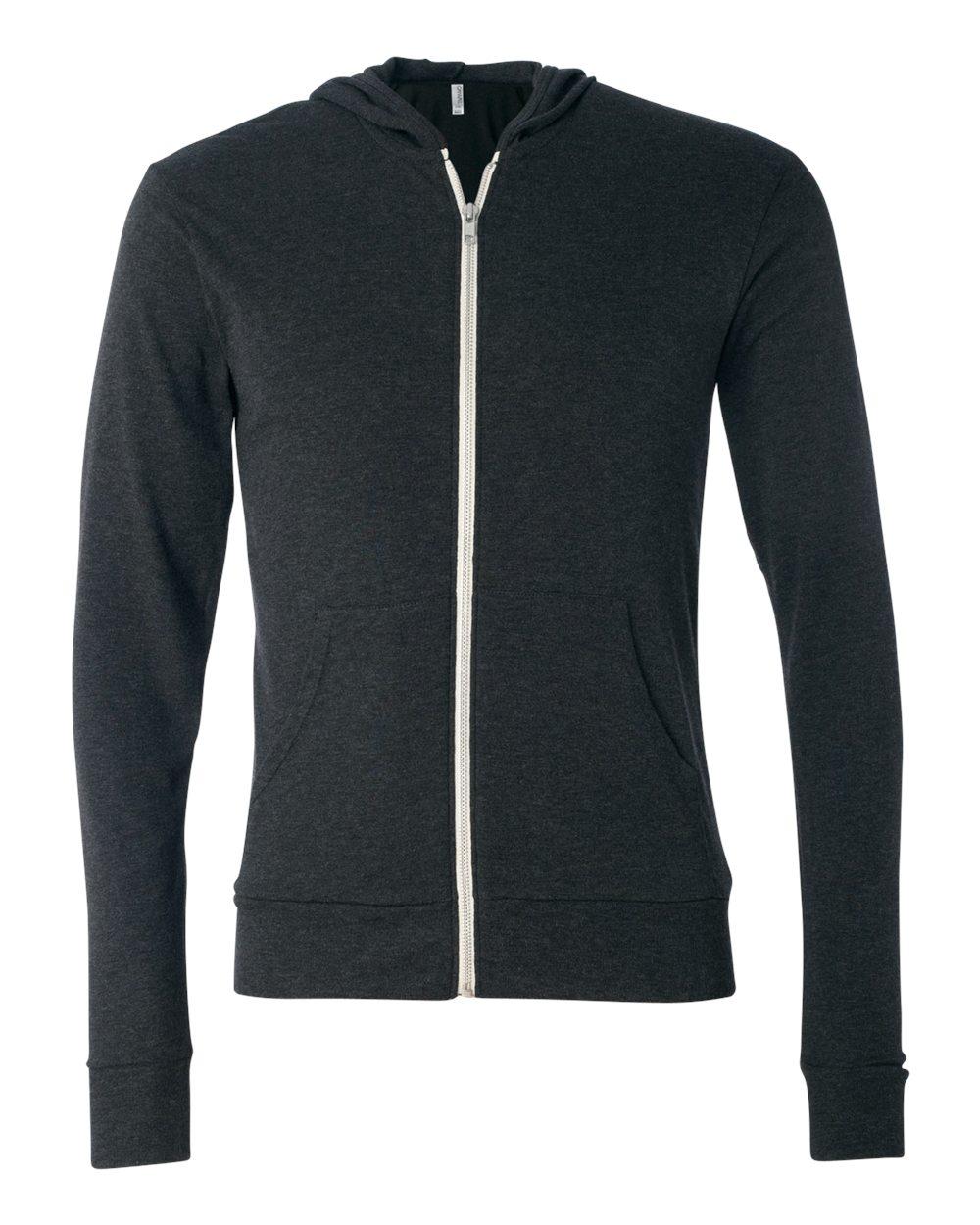 Bella-Canvas-Unisex-Triblend-Lightweight-Hooded-Full-Zip-T-Shirt-3939-upto-2XL thumbnail 9