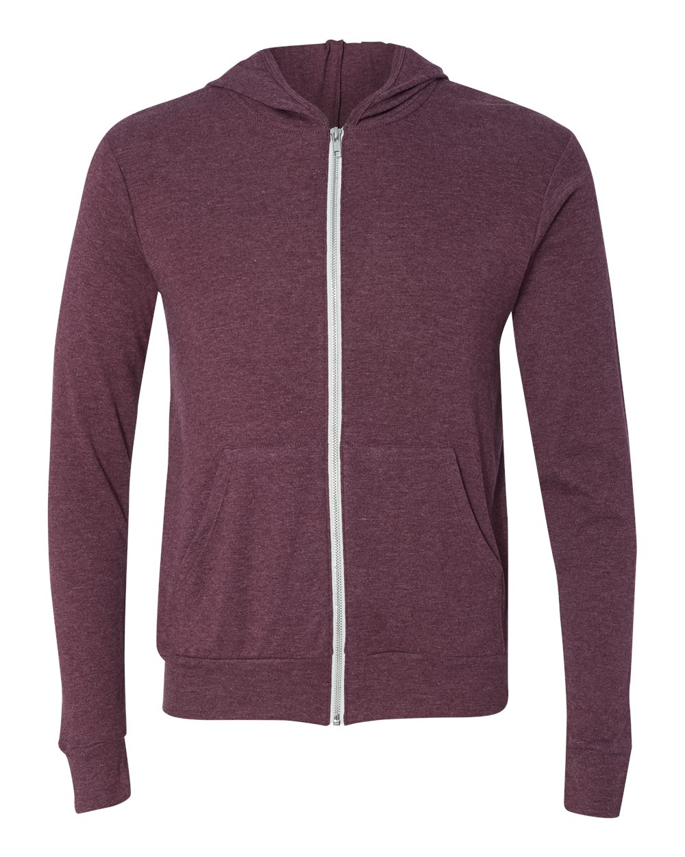 Bella-Canvas-Unisex-Triblend-Lightweight-Hooded-Full-Zip-T-Shirt-3939-upto-2XL thumbnail 18