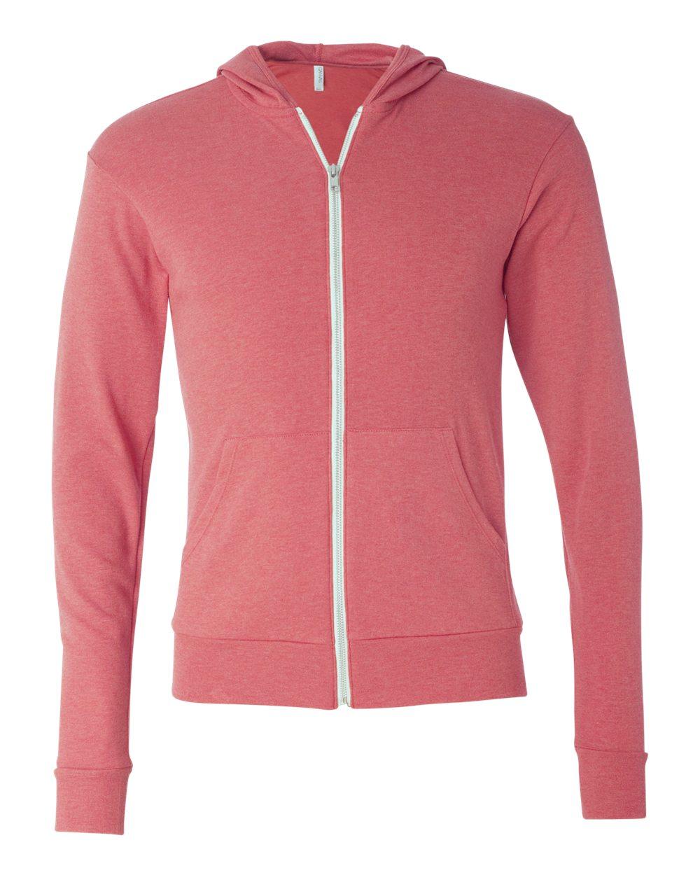 Bella-Canvas-Unisex-Triblend-Lightweight-Hooded-Full-Zip-T-Shirt-3939-upto-2XL thumbnail 24