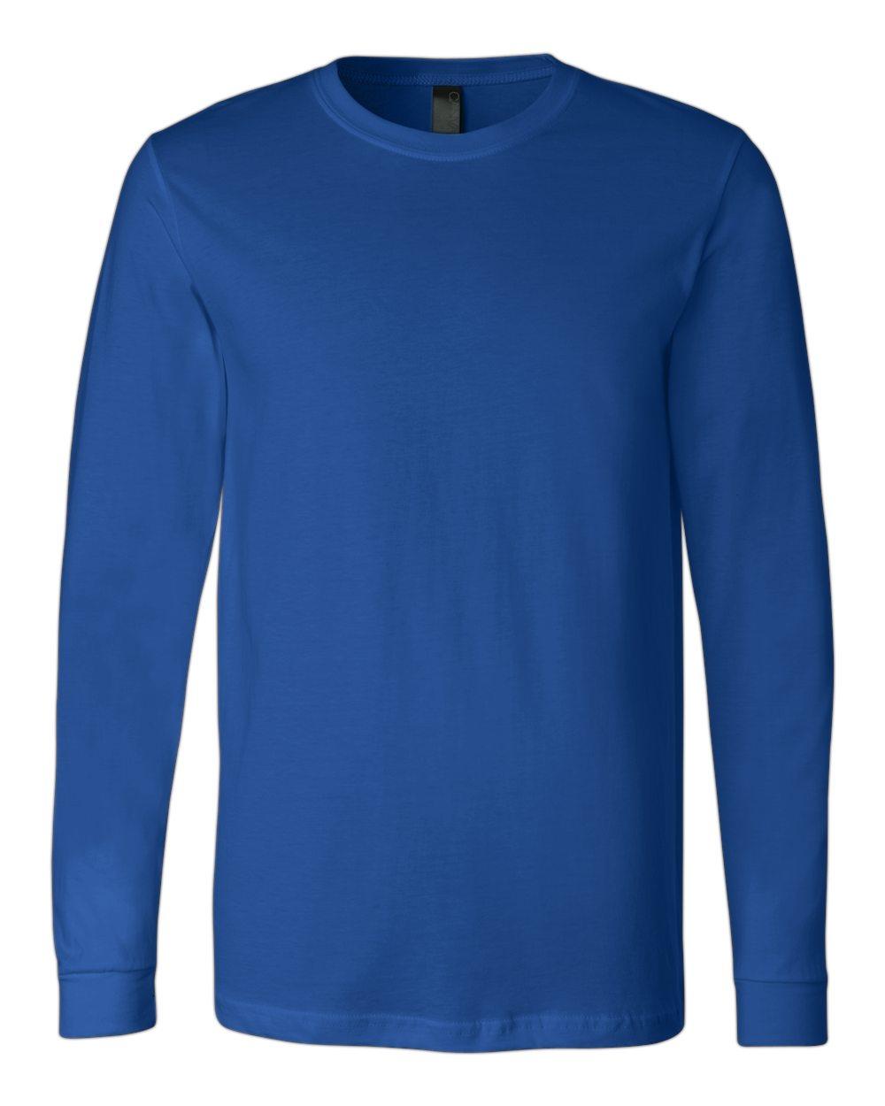 Bella-Canvas-Mens-Blank-Top-Long-Sleeve-Jersey-Tee-T-Shirt-3501-up-to-3XL thumbnail 110