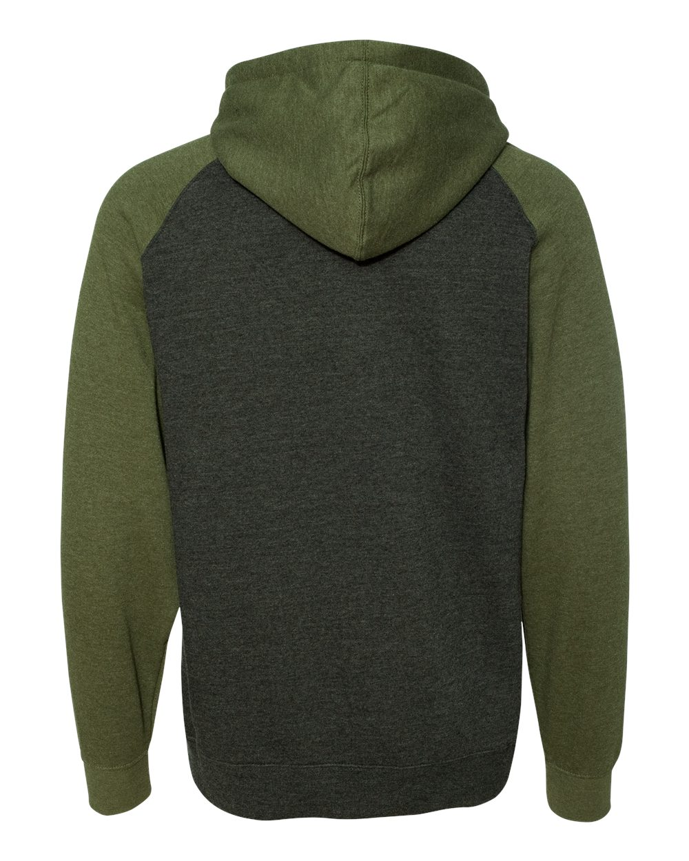 Independent-Trading-Co-Mens-Raglan-Hooded-Pullover-Sweatshirt-IND40RP-up-to-3XL miniature 7