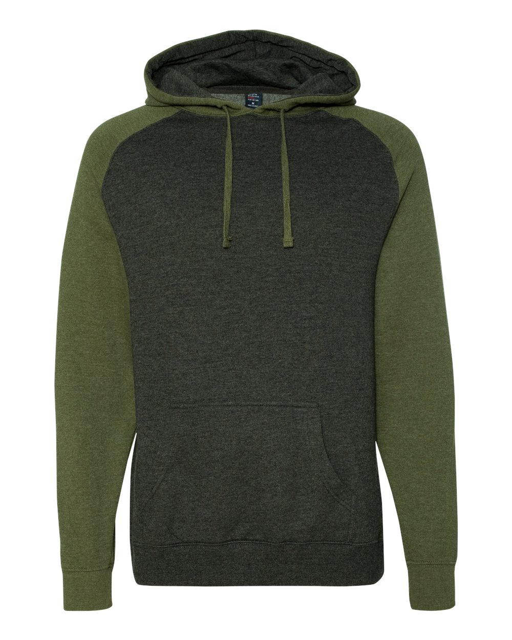 Independent-Trading-Co-Mens-Raglan-Hooded-Pullover-Sweatshirt-IND40RP-up-to-3XL miniature 6