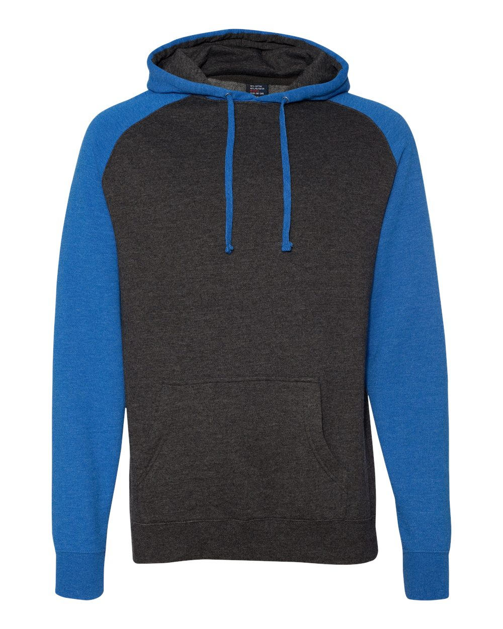 Independent-Trading-Co-Mens-Raglan-Hooded-Pullover-Sweatshirt-IND40RP-up-to-3XL miniature 15