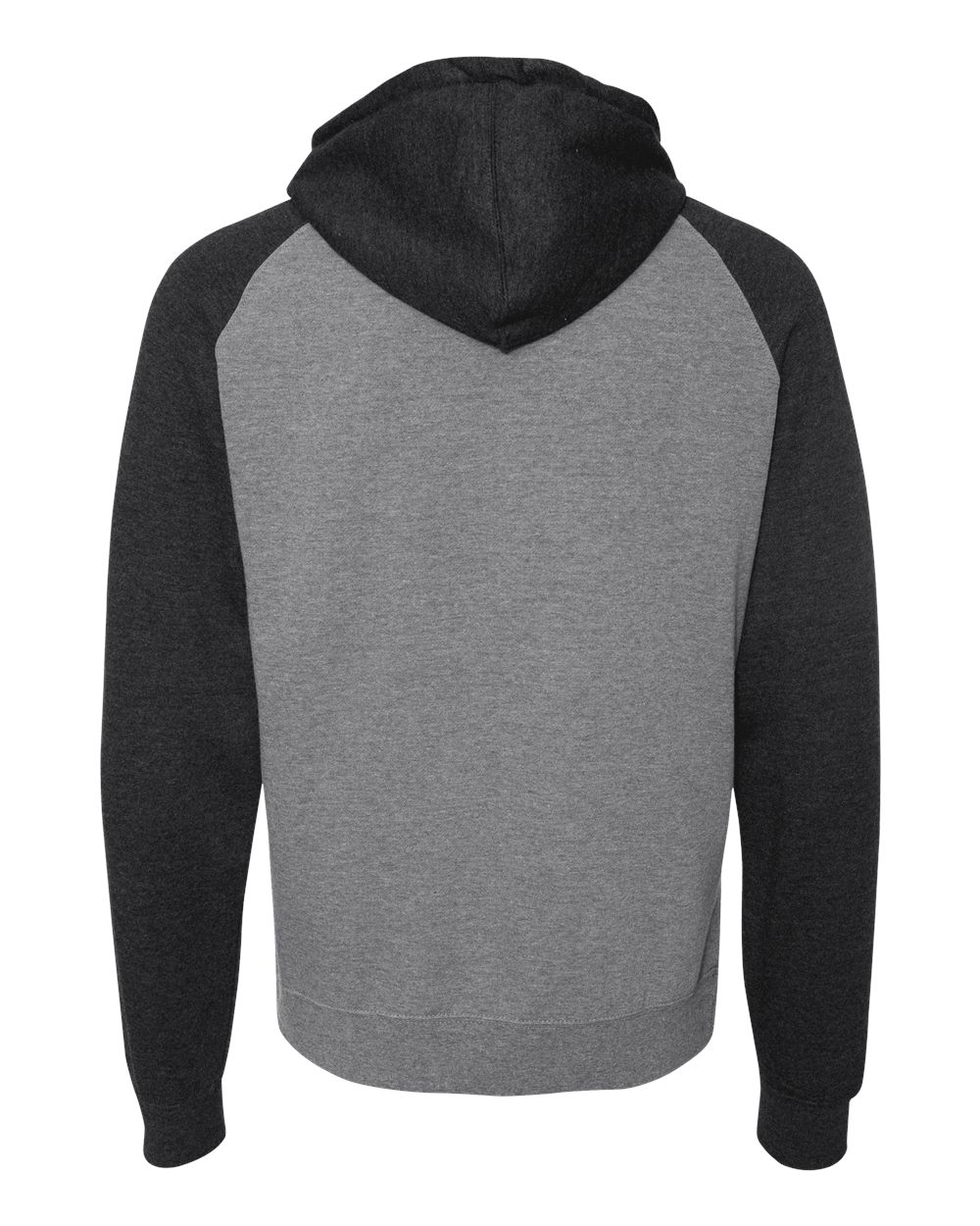 Independent-Trading-Co-Mens-Raglan-Hooded-Pullover-Sweatshirt-IND40RP-up-to-3XL miniature 25