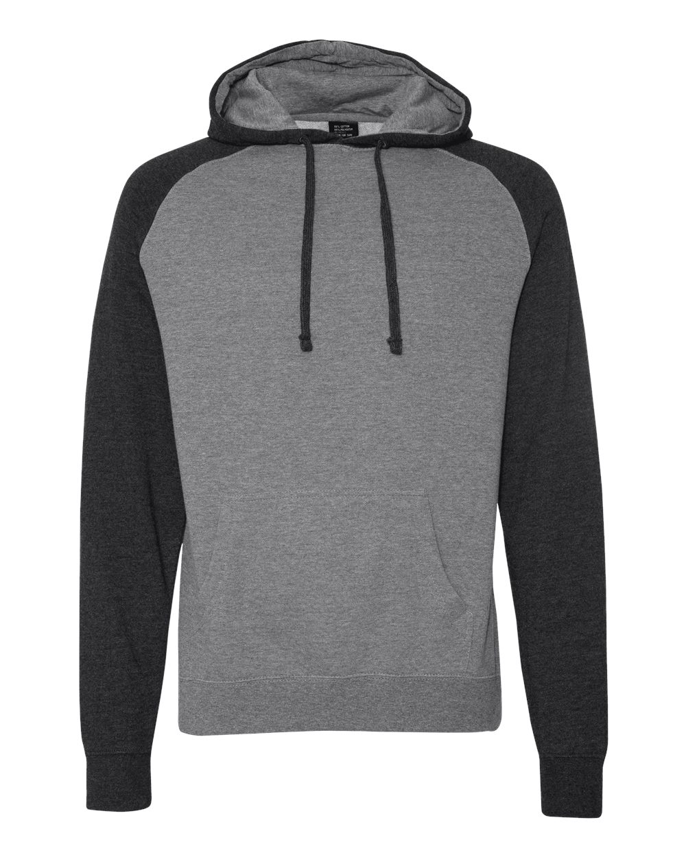 Independent-Trading-Co-Mens-Raglan-Hooded-Pullover-Sweatshirt-IND40RP-up-to-3XL miniature 24