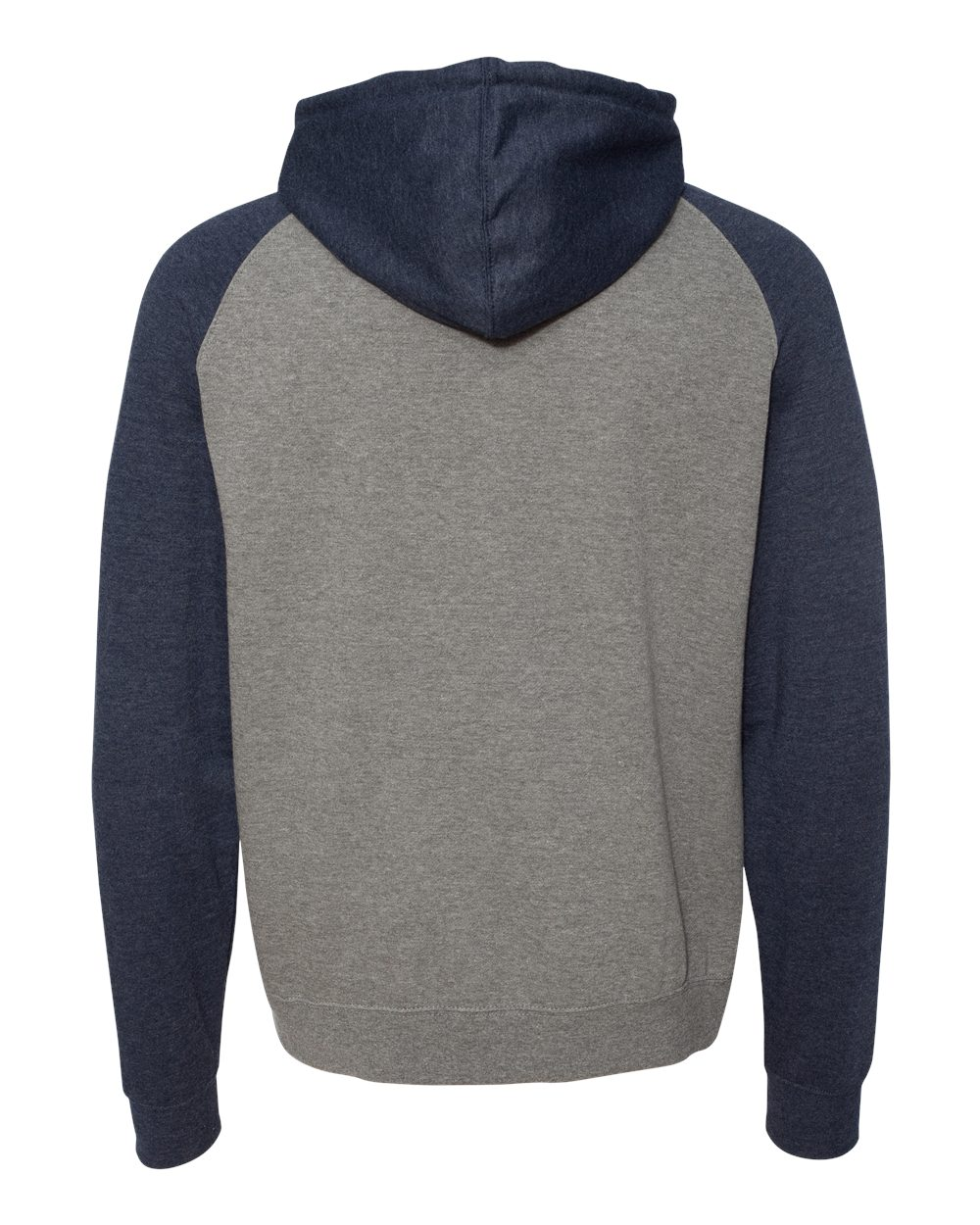 Independent-Trading-Co-Mens-Raglan-Hooded-Pullover-Sweatshirt-IND40RP-up-to-3XL miniature 28