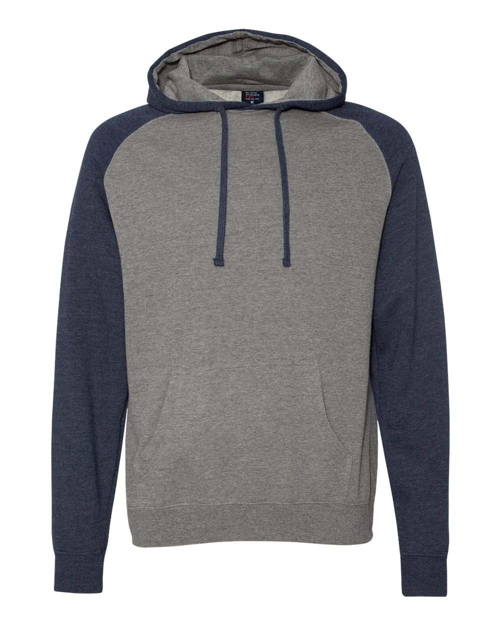 Independent-Trading-Co-Mens-Raglan-Hooded-Pullover-Sweatshirt-IND40RP-up-to-3XL miniature 27