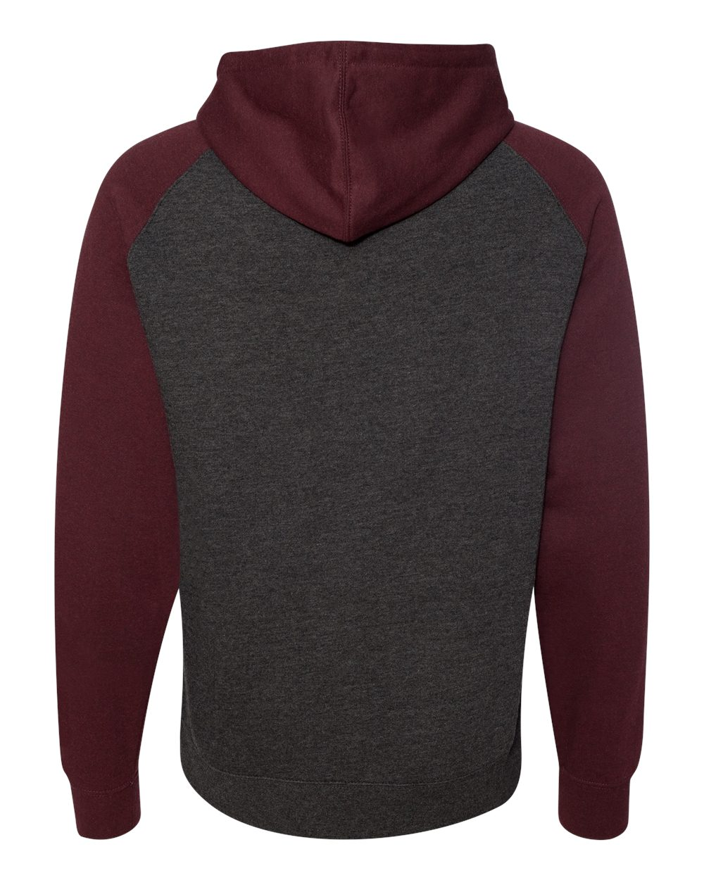 Independent-Trading-Co-Mens-Raglan-Hooded-Pullover-Sweatshirt-IND40RP-up-to-3XL miniature 13
