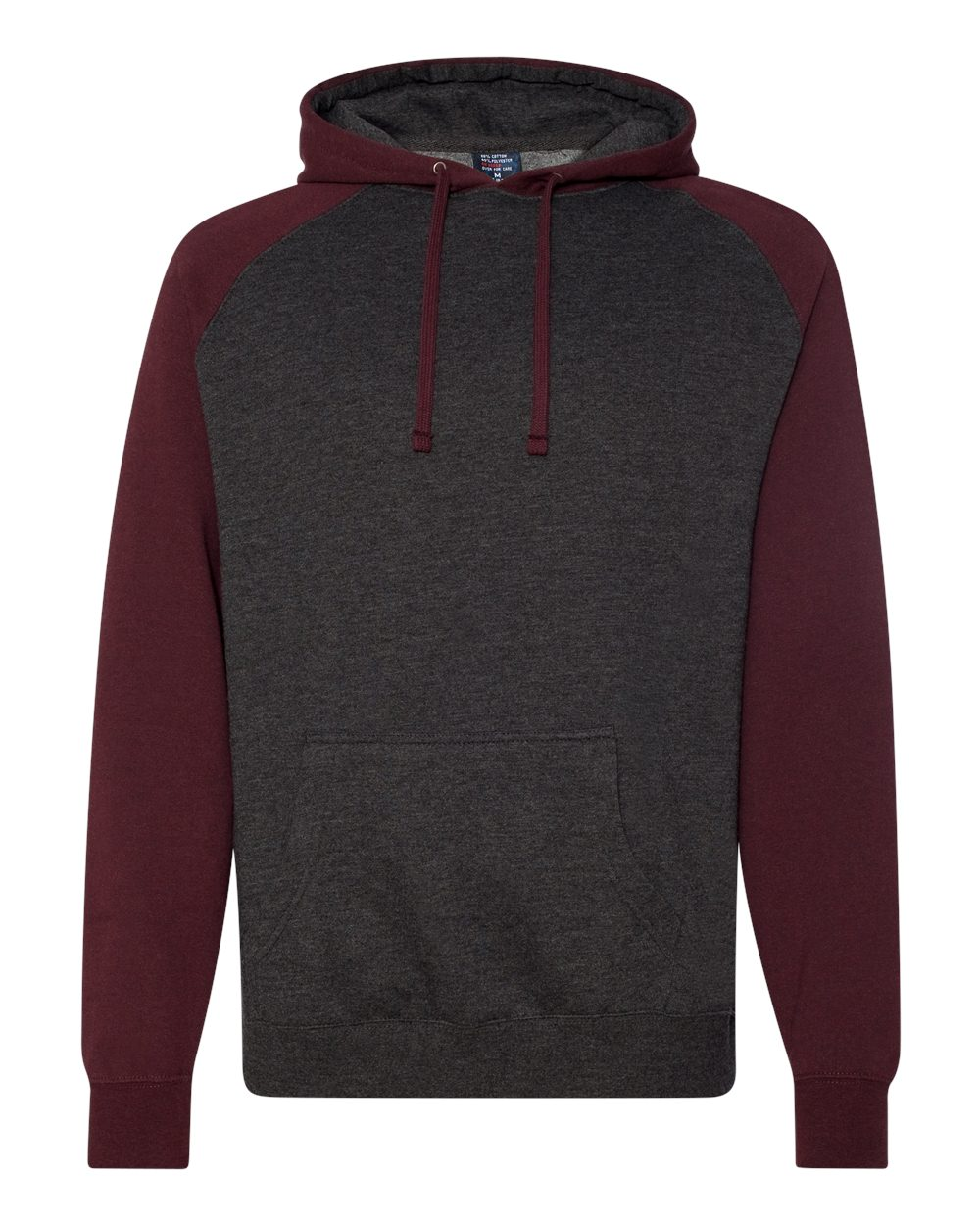 Independent-Trading-Co-Mens-Raglan-Hooded-Pullover-Sweatshirt-IND40RP-up-to-3XL miniature 12
