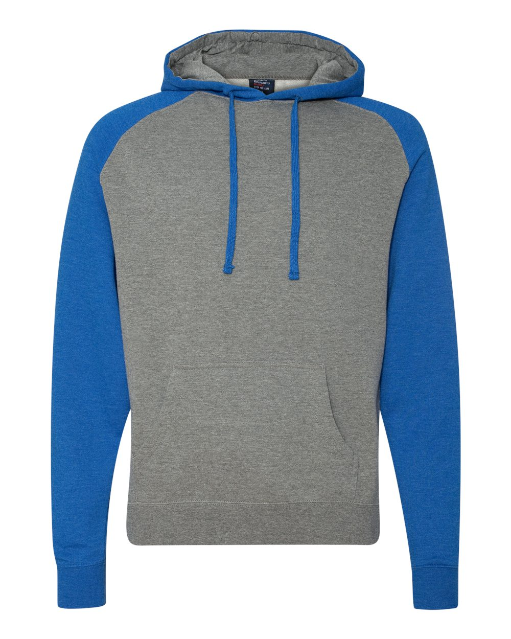 Independent-Trading-Co-Mens-Raglan-Hooded-Pullover-Sweatshirt-IND40RP-up-to-3XL miniature 30