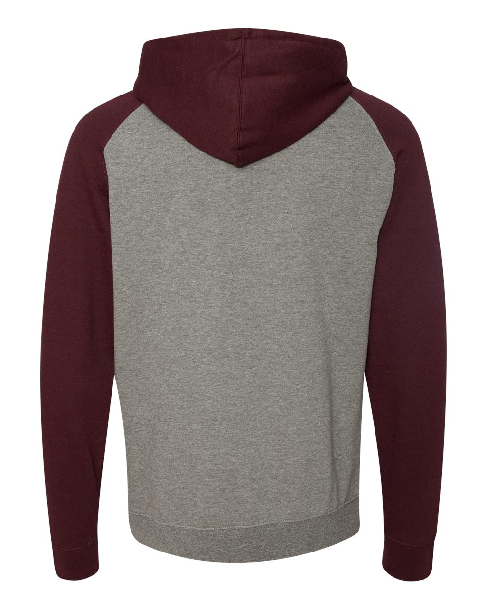 Independent-Trading-Co-Mens-Raglan-Hooded-Pullover-Sweatshirt-IND40RP-up-to-3XL miniature 22