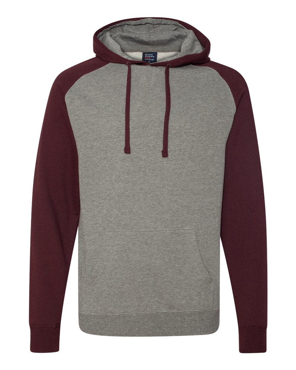 Independent-Trading-Co-Mens-Raglan-Hooded-Pullover-Sweatshirt-IND40RP-up-to-3XL miniature 21