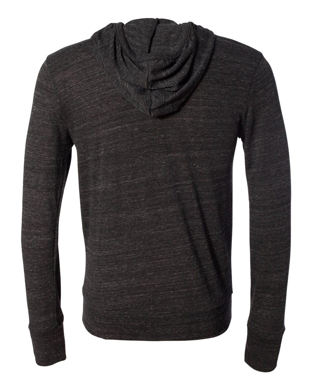 Alternative-Mens-Eco-Jersey-Hooded-Full-Zip-T-Shirt-Blank-Plain-1970e1-up-to-3XL miniature 7
