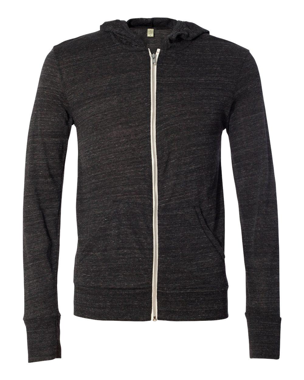 Alternative-Mens-Eco-Jersey-Hooded-Full-Zip-T-Shirt-Blank-Plain-1970e1-up-to-3XL miniature 6