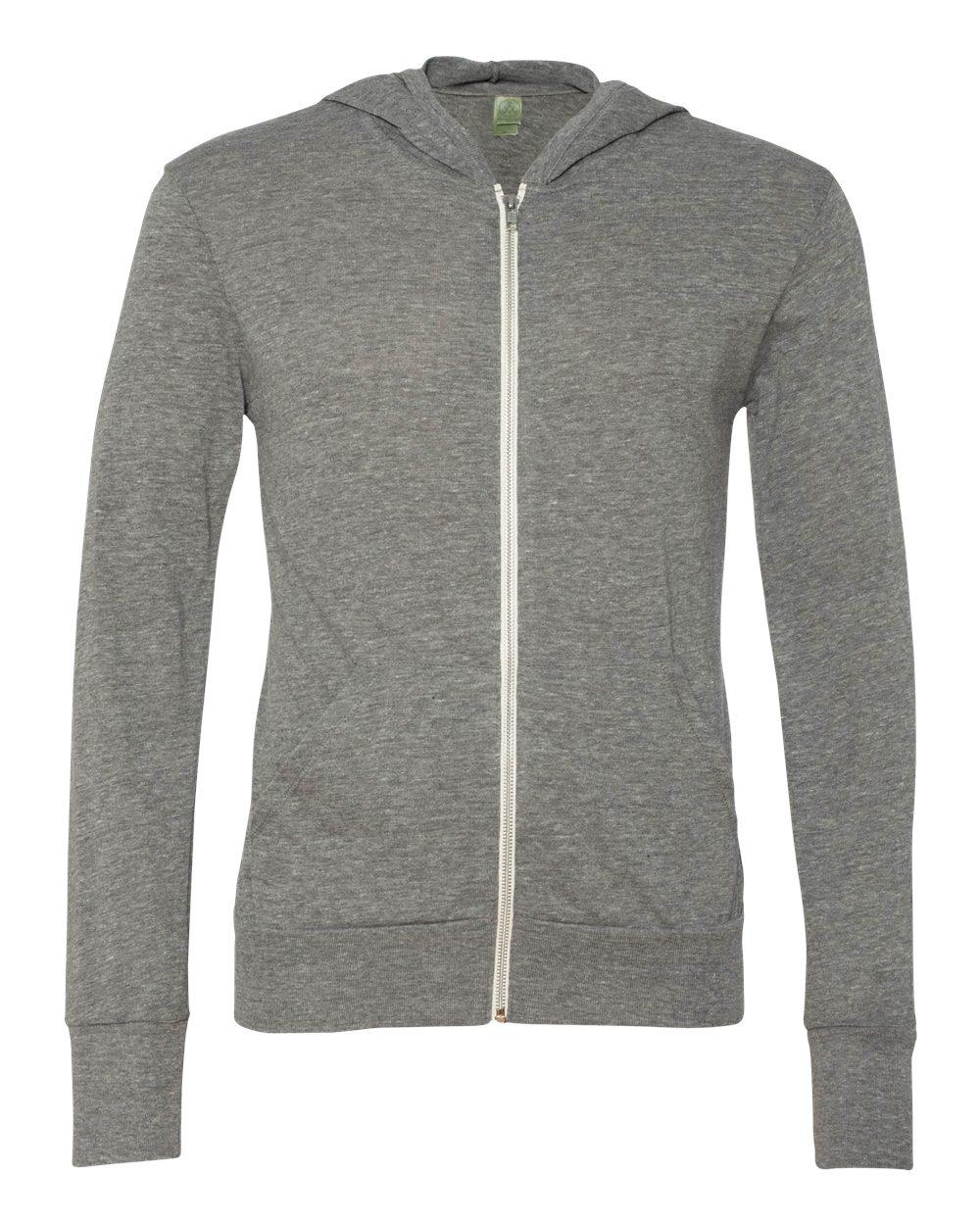 Alternative-Mens-Eco-Jersey-Hooded-Full-Zip-T-Shirt-Blank-Plain-1970e1-up-to-3XL miniature 9