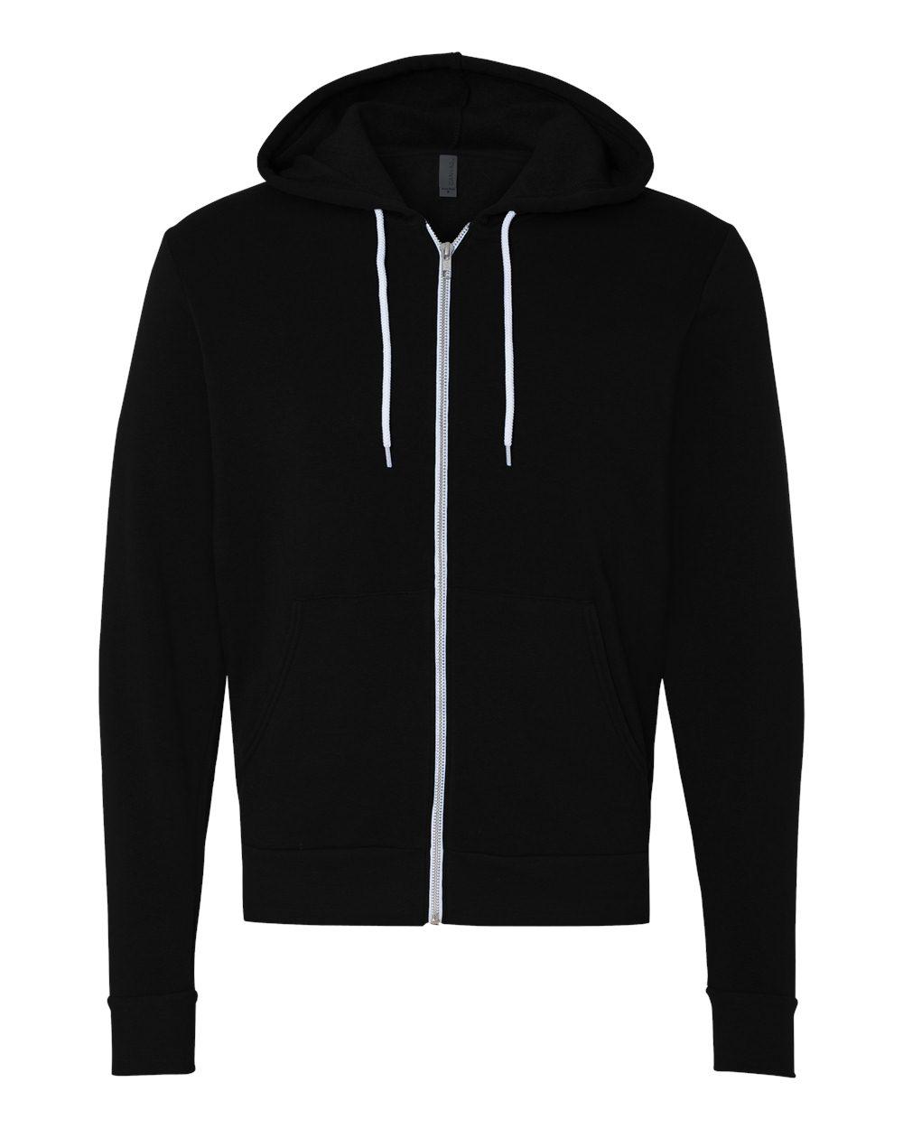 Bella-Canvas-Unisex-Full-Zip-Up-Hooded-Sweatshirt-Blank-Hoodie-3739-up-to-3XL thumbnail 11