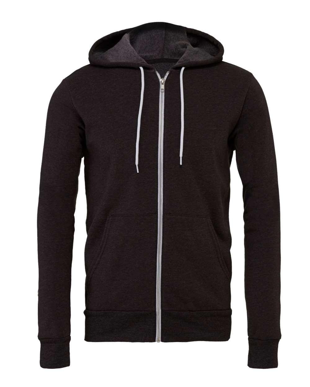 Bella-Canvas-Unisex-Full-Zip-Up-Hooded-Sweatshirt-Blank-Hoodie-3739-up-to-3XL thumbnail 18