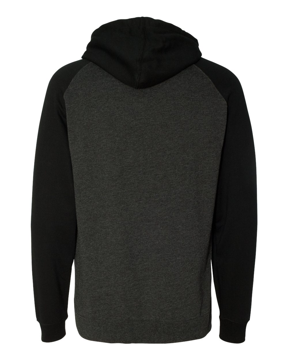 Independent-Trading-Co-Mens-Raglan-Hooded-Pullover-Sweatshirt-IND40RP-up-to-3XL miniature 10