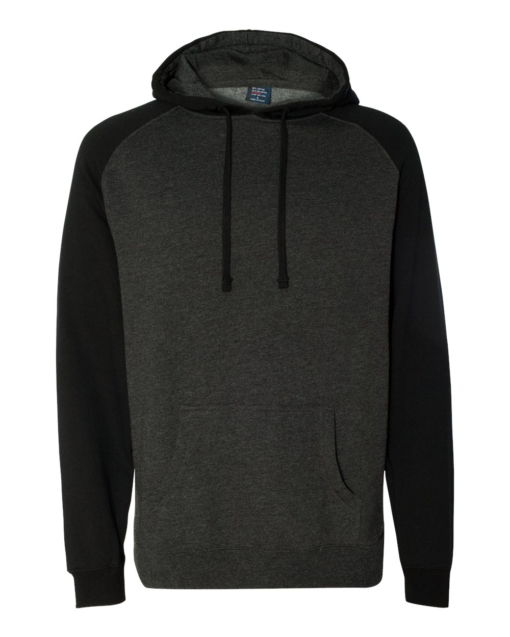 Independent-Trading-Co-Mens-Raglan-Hooded-Pullover-Sweatshirt-IND40RP-up-to-3XL miniature 9