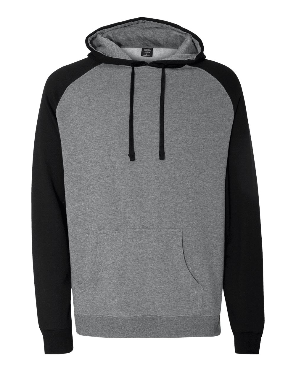 Independent-Trading-Co-Mens-Raglan-Hooded-Pullover-Sweatshirt-IND40RP-up-to-3XL miniature 18