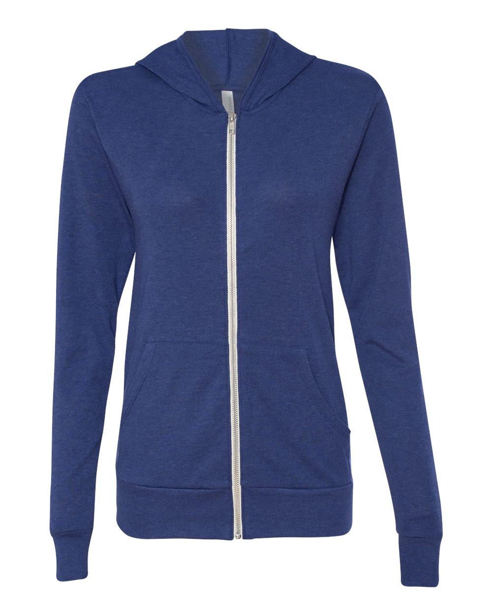 Bella-Canvas-Unisex-Triblend-Lightweight-Hooded-Full-Zip-T-Shirt-3939-upto-2XL thumbnail 21