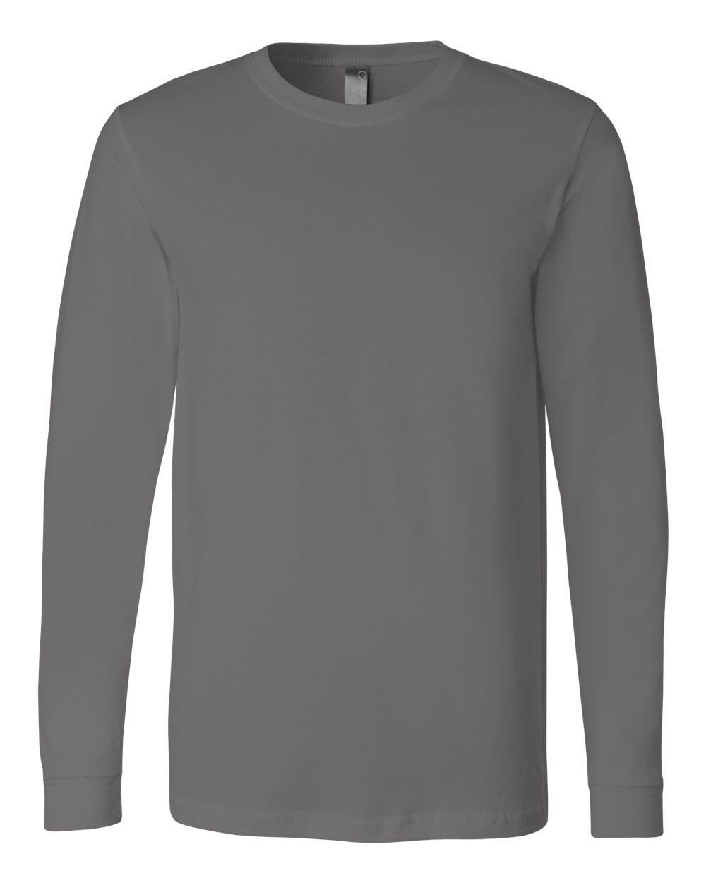 Bella-Canvas-Mens-Blank-Top-Long-Sleeve-Jersey-Tee-T-Shirt-3501-up-to-3XL thumbnail 9