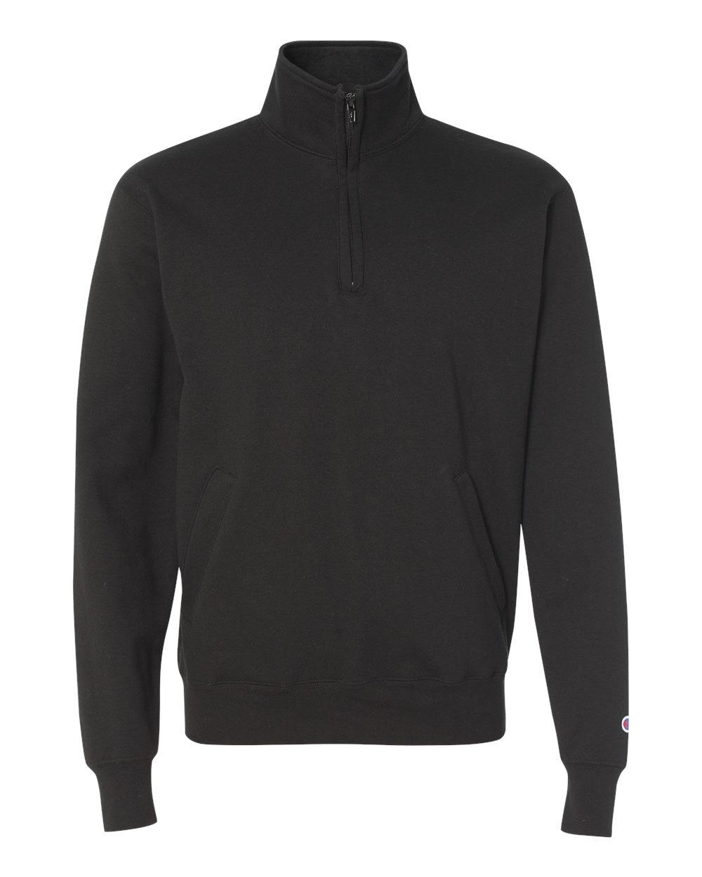 Champion-Mens-Double-Dry-Eco-Quarter-Zip-Pullover-Sweatshirt-S400-up-to-3XL miniature 6