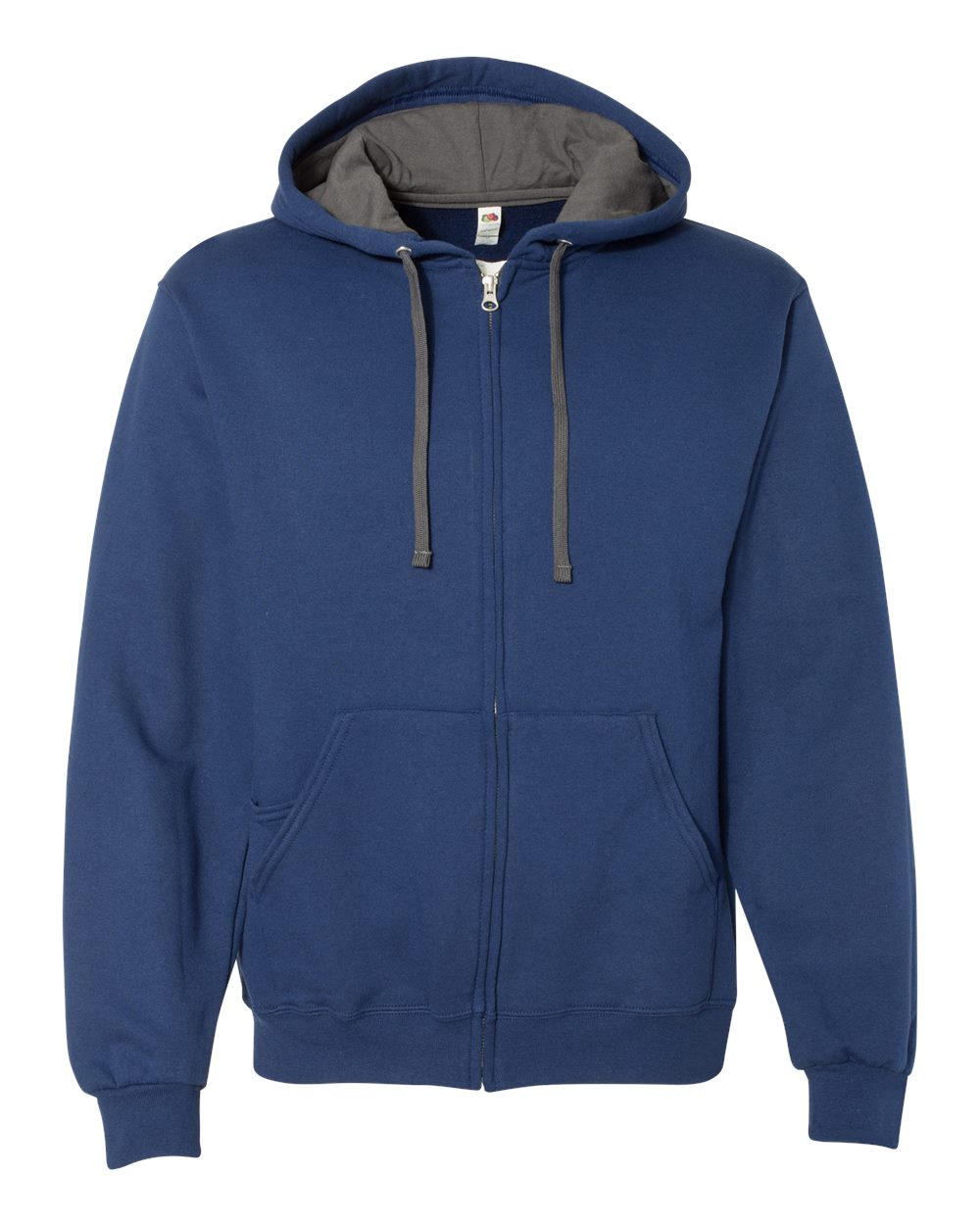 Fruit-of-the-Loom-Mens-Sofspun-Hooded-Full-Zip-Sweatshirt-Blank-SF73R-up-to-3XL thumbnail 6