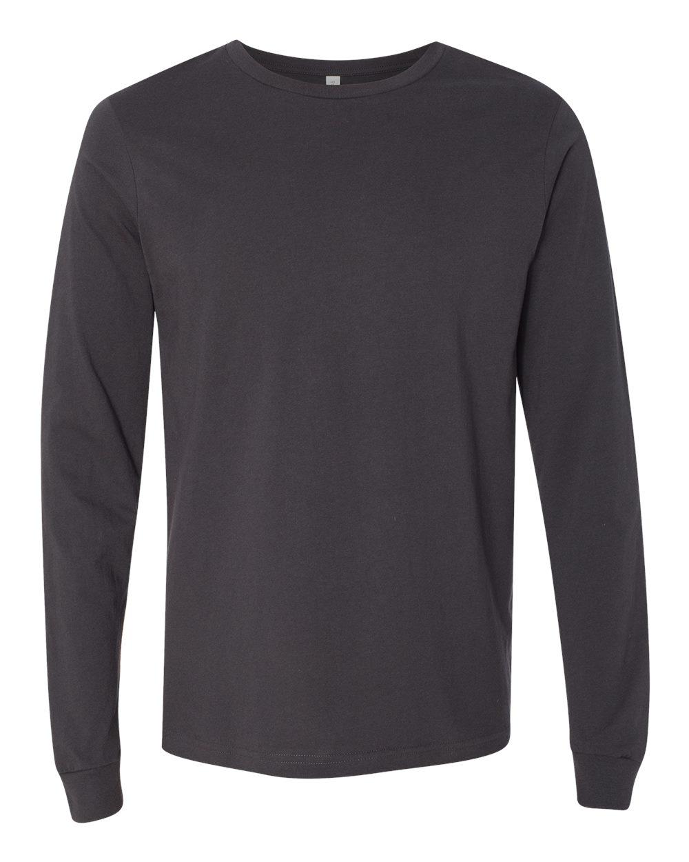 Bella-Canvas-Mens-Blank-Top-Long-Sleeve-Jersey-Tee-T-Shirt-3501-up-to-3XL thumbnail 36