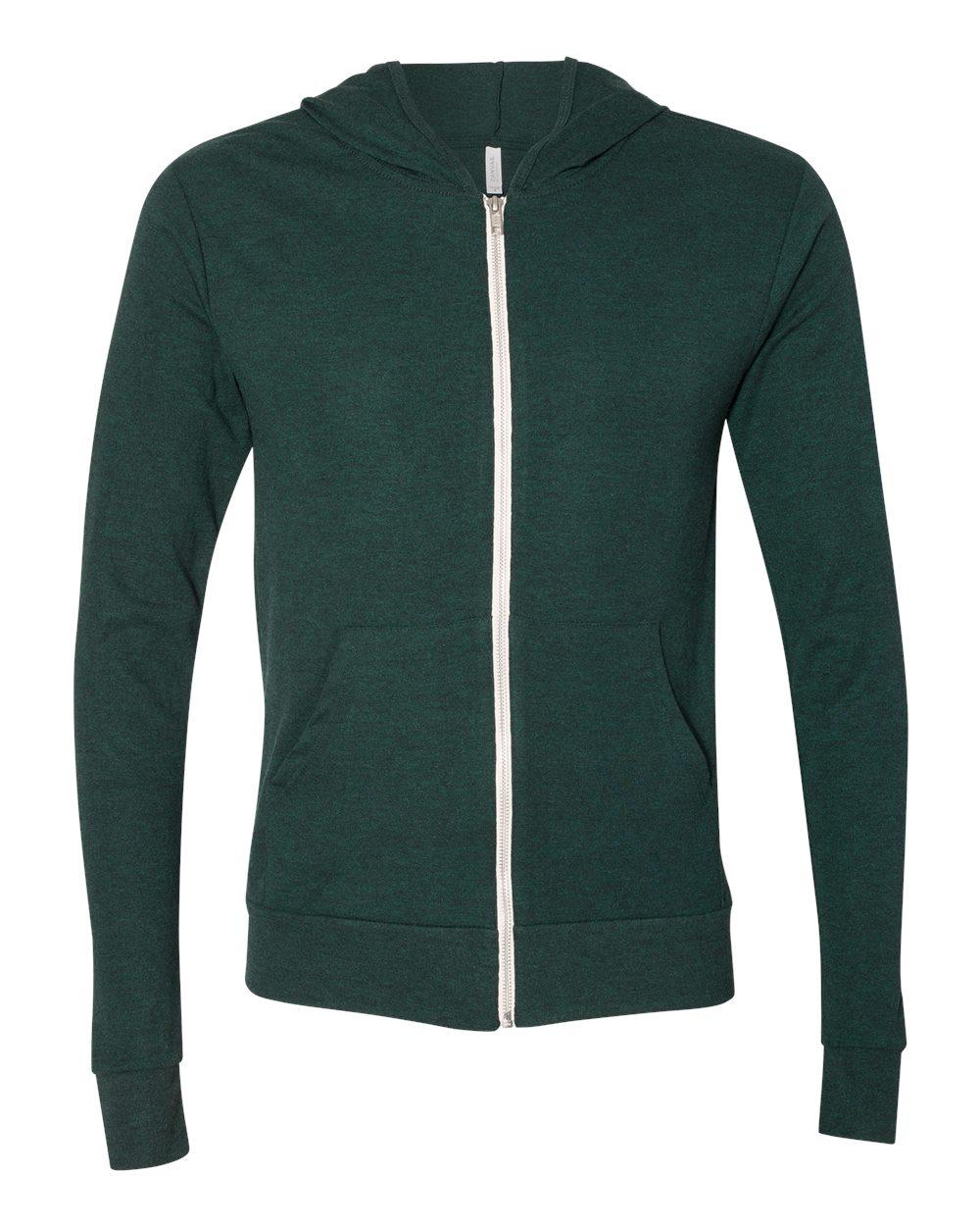 Bella-Canvas-Unisex-Triblend-Lightweight-Hooded-Full-Zip-T-Shirt-3939-upto-2XL thumbnail 12