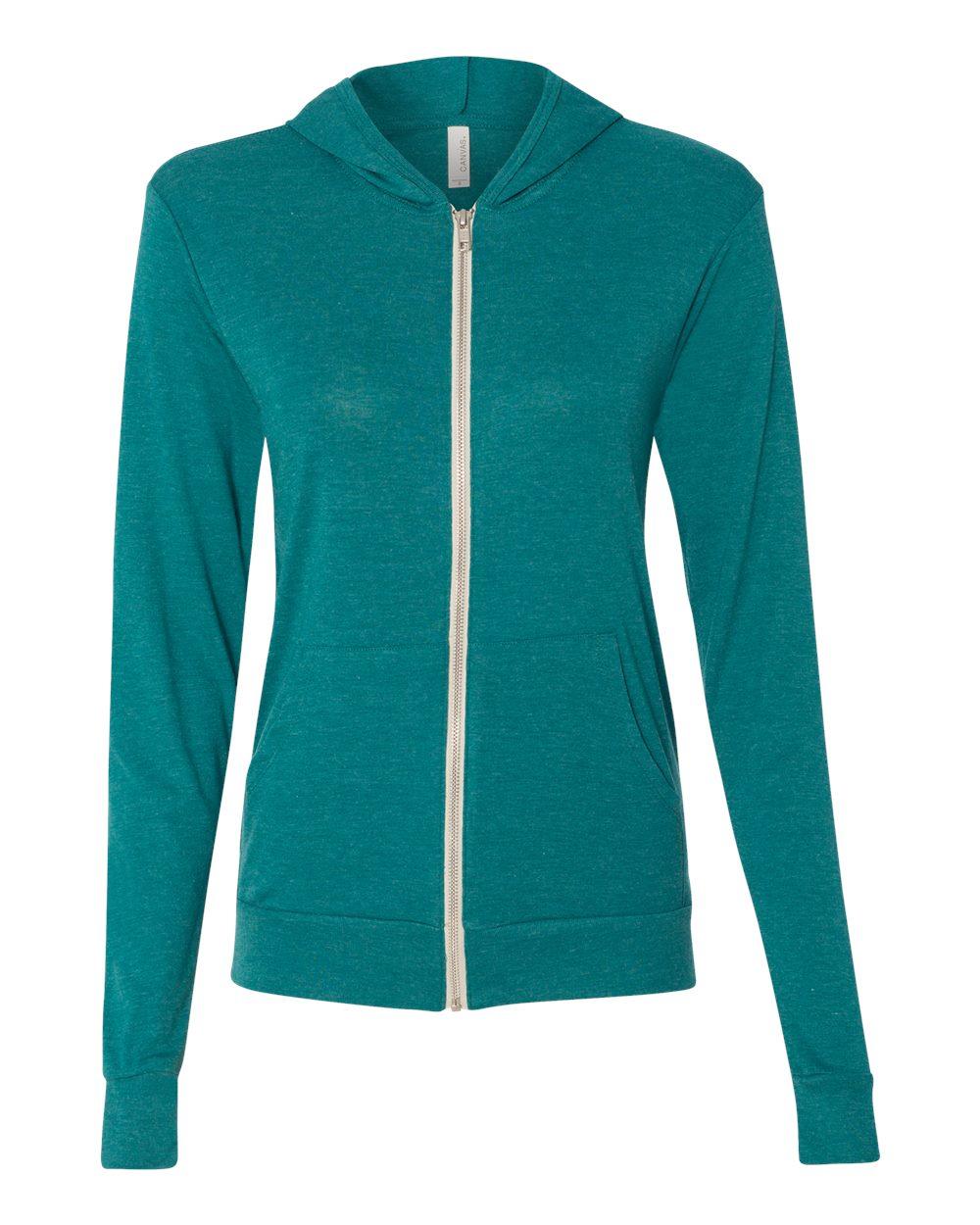 Bella-Canvas-Unisex-Triblend-Lightweight-Hooded-Full-Zip-T-Shirt-3939-upto-2XL thumbnail 33